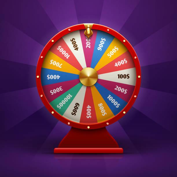 Réaliste 3d fortune rouet, illustration vectorielle lucky roulette - Illustration vectorielle