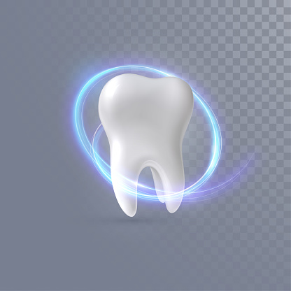 Realistic 3d tooth