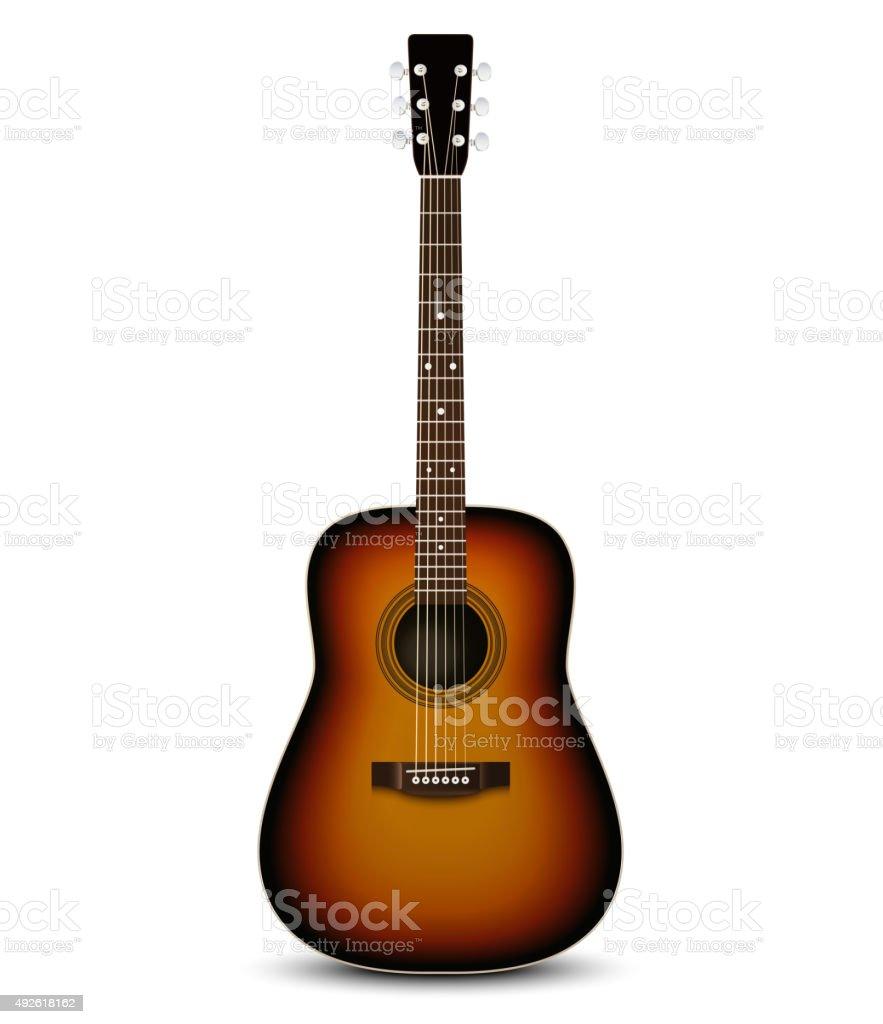 Realistic acoustic guitar. Vector illustration vector art illustration