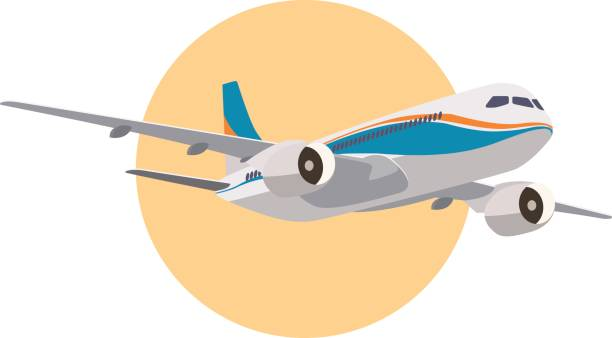 Realistische Flugzeuge in Vektor. – Vektorgrafik