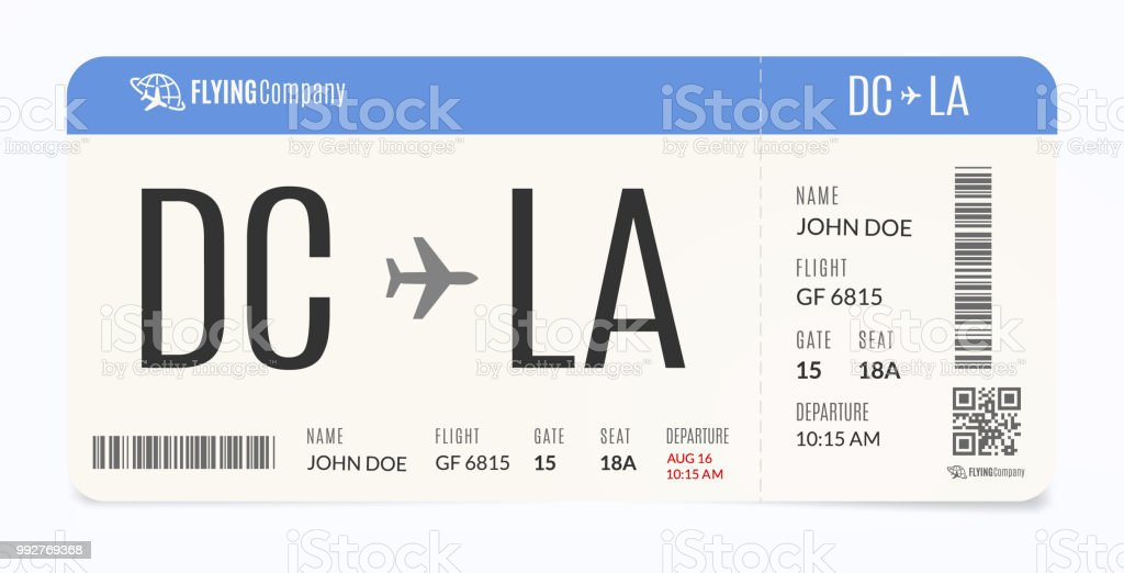 realistic airplane template modern airline admission boarding pass