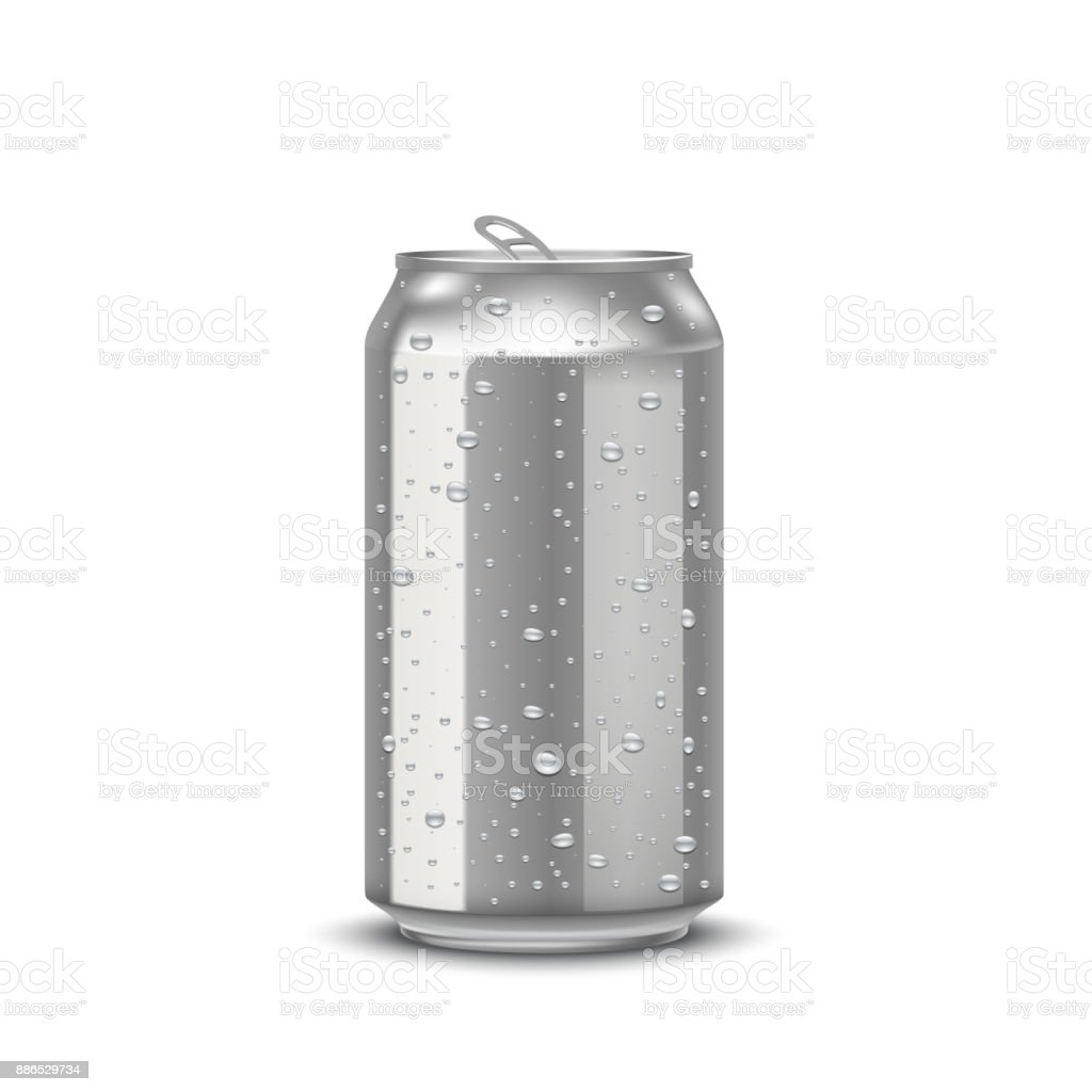 realistic aluminum cans vector art illustration