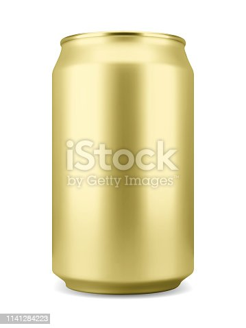 istock Realistic aluminum soft drink or beer can 1141284223