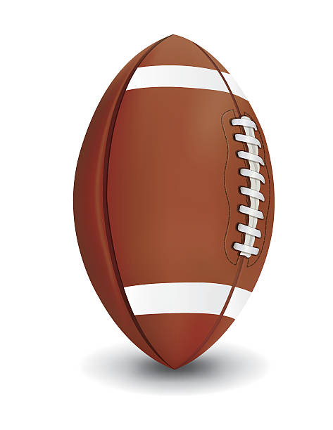 realistic american football isolated on white background illustr - football stock illustrations, clip art, cartoons, & icons