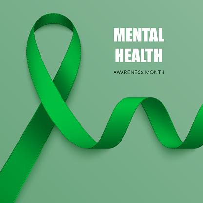 Realistic awareness ribbon