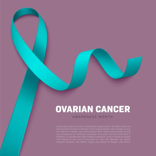 realistic awareness ribbon - ovarian cancer ribbon stock illustrations