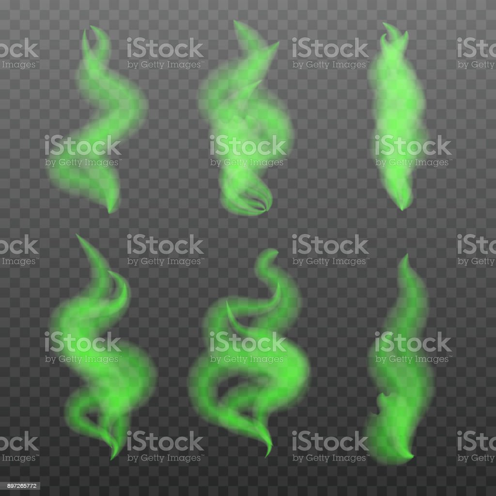 Realistic Bad smells set, stench aroma. Toxic,  deadly gas. Vector illustration vector art illustration