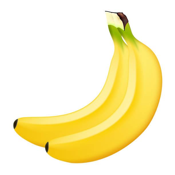 Realistische Banane auf weißem Hintergrund. 3D isoliert Vektor-illustration – Vektorgrafik