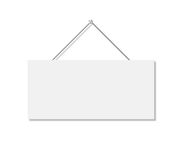 realistyczny baner do projektowania papieru. izolowana ilustracja wektorowa. realistyczna tablica wektorowa na białym tle. - bar lokal gastronomiczny stock illustrations