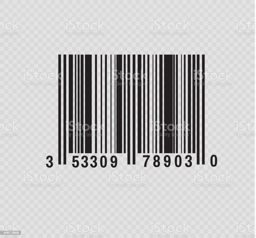 Realistische Barcodesymbol Einen Modernen Einfachen Flachen ...