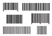 Realistic bar code icon. A modern simple flat barcode. Marketing, the concept of the Internet. Fashionable vector sign of a market trademark for website design, mobile application. Bar code logo