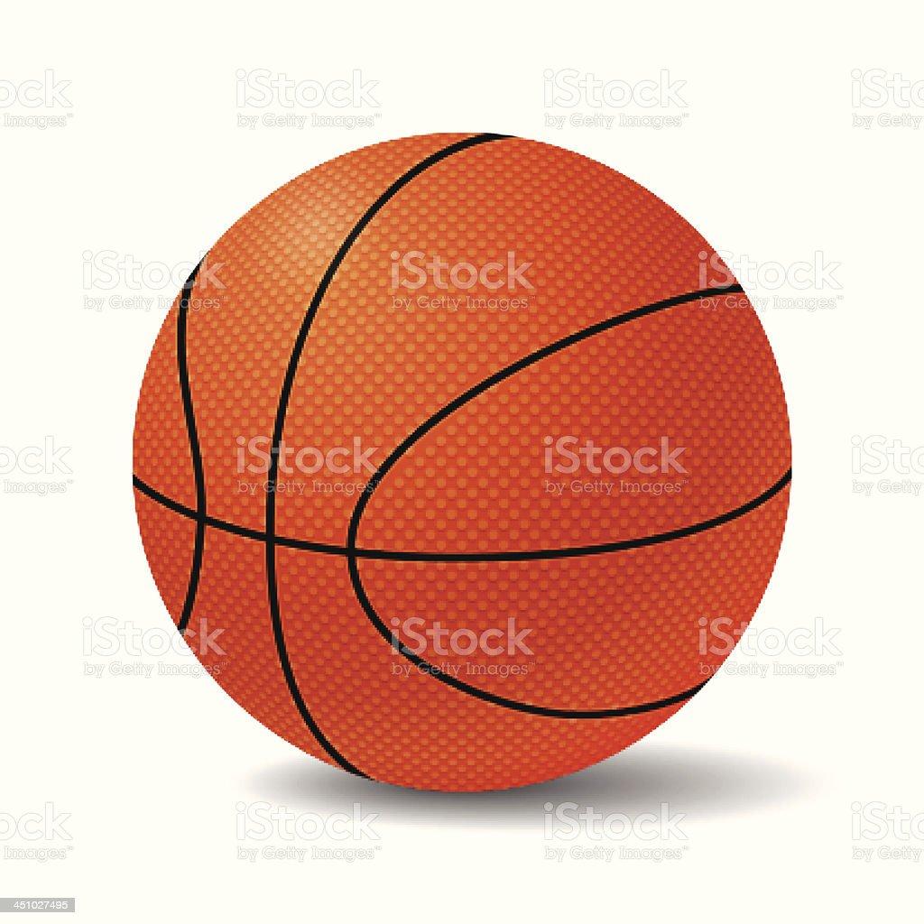 Realistic Basketball Ball. Vector Illustration royalty-free stock vector art