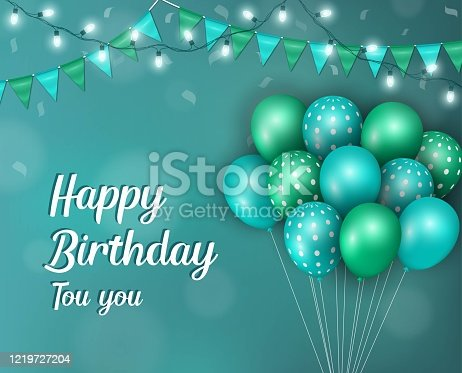 istock Realistic birthday design 1219727204