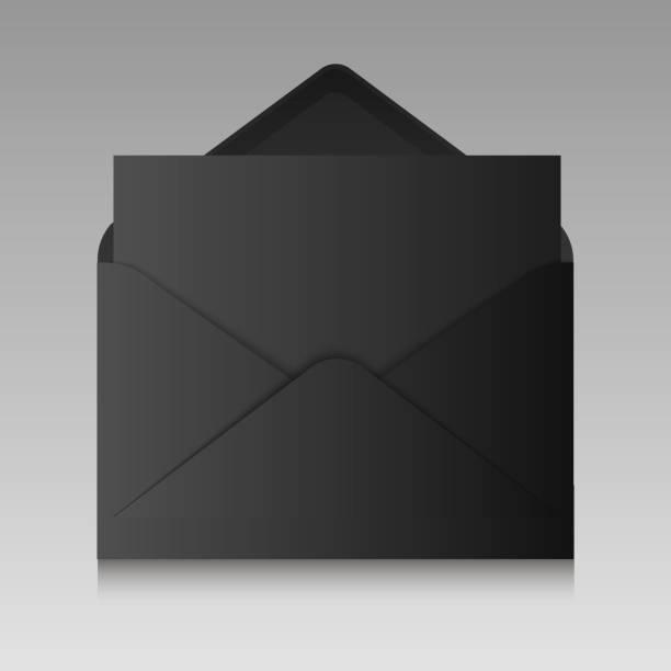Realistische schwarze Hülle isoliert auf einem Hintergrund. Vektor-Illustration. – Vektorgrafik