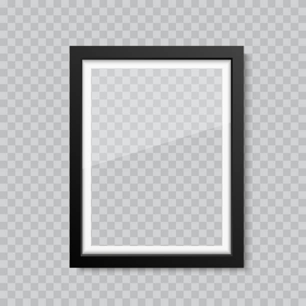 Realistic blank glass picture or photograph frame. Vector Realistic blank glass picture or photograph frame. Vector. south caucasus stock illustrations