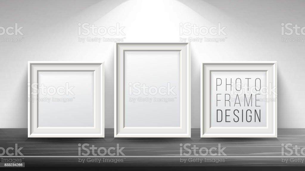 Ilustración de Vector Marco De Imagen Realista En Blanco Se Burlan ...