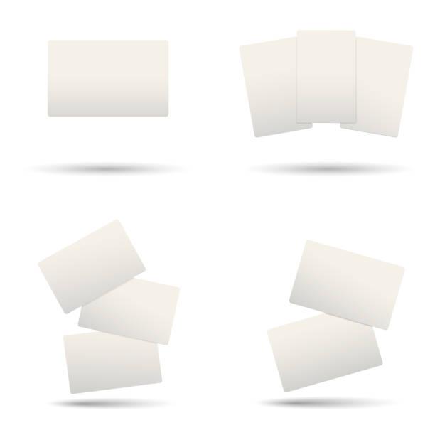 реалистичные пустые пластиковые кредитные карты. векторная иллюстрация. - credit card stock illustrations