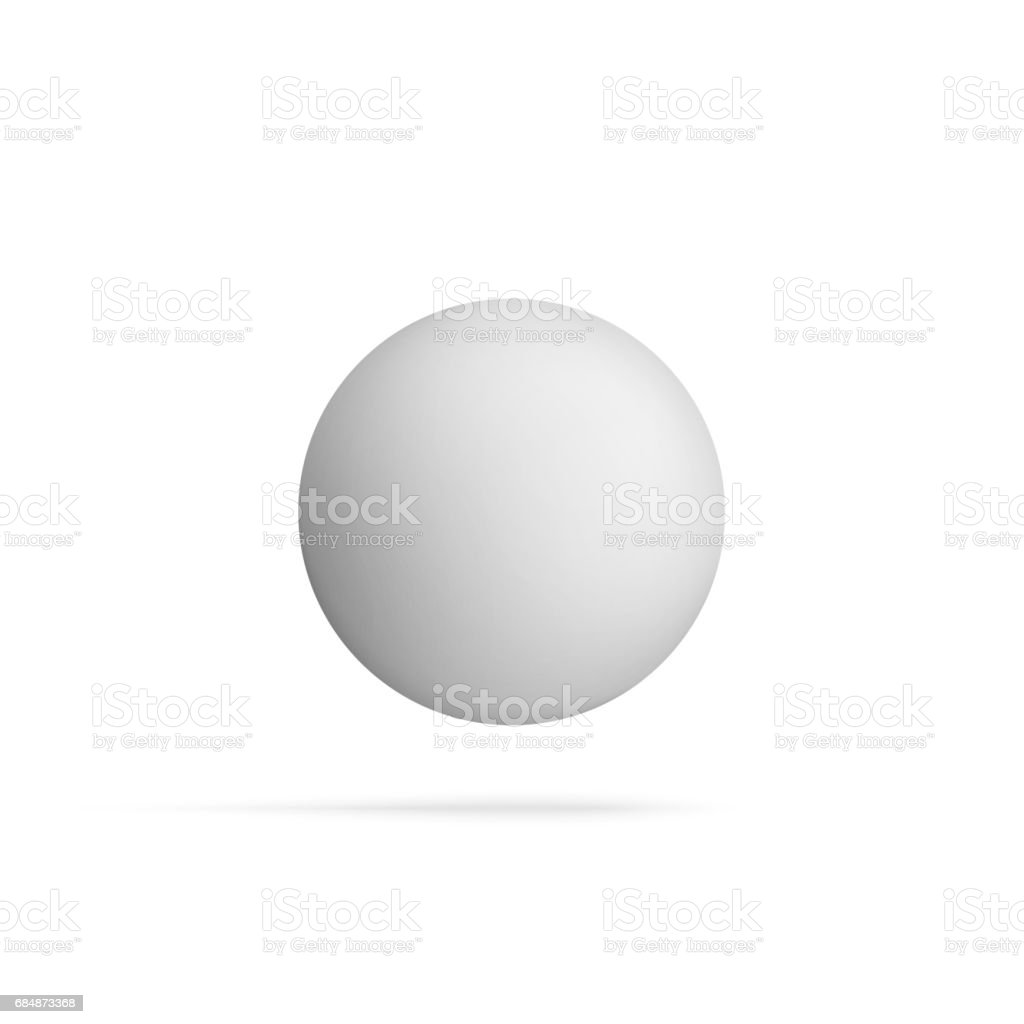 Realistic blank Sphere Shape flying in the Air