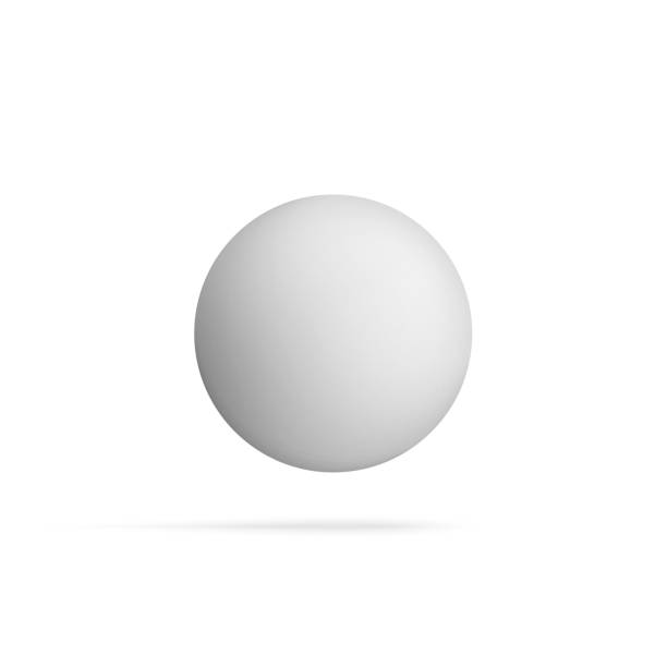 Realistic blank Sphere Shape flying in the Air vector art illustration