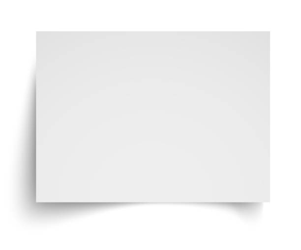 ilustrações de stock, clip art, desenhos animados e ícones de realistic blank white a4 sheet template with soft shadows on white background. vector illustration eps10 - horizontal
