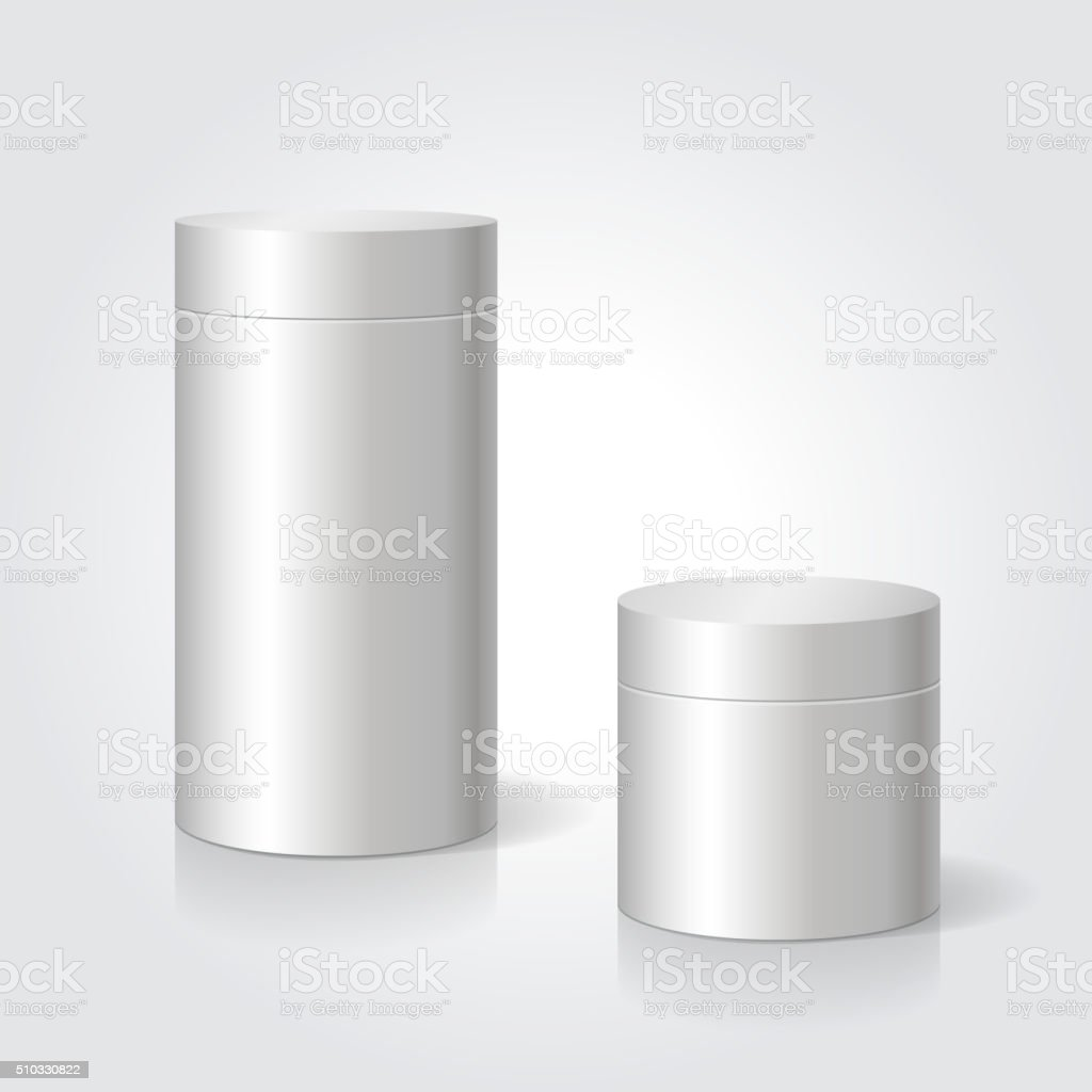 Realistic blank white package box mock up to advertise goods vector art illustration