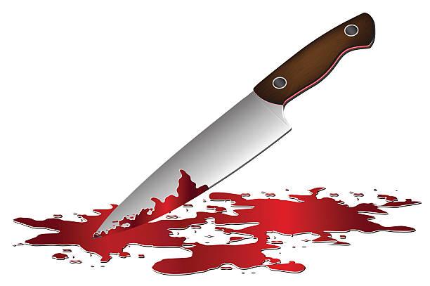 Best Knife With Dripping Blood Illustrations, Royalty-Free