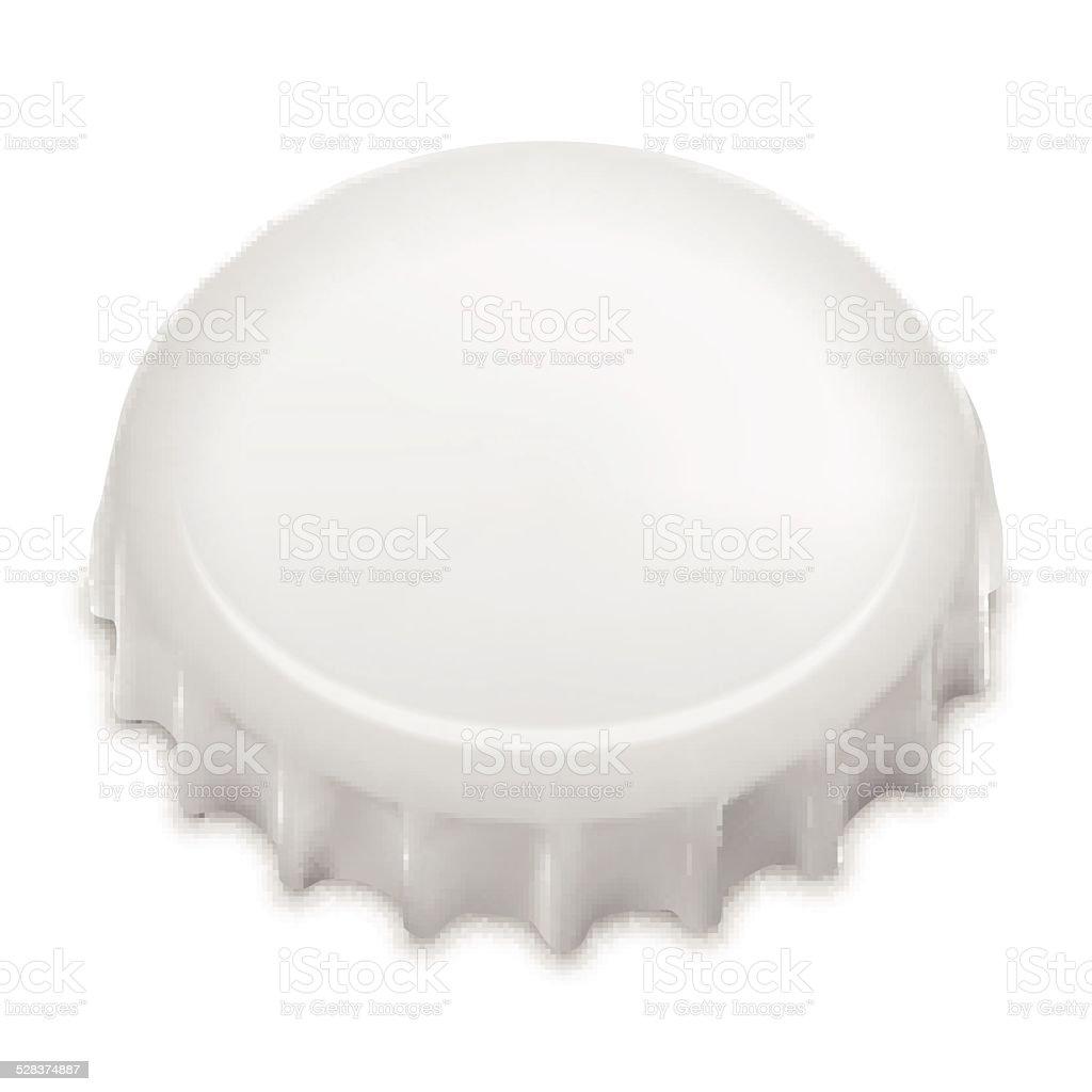 Realistic Bottle Cap On White. Vector vector art illustration