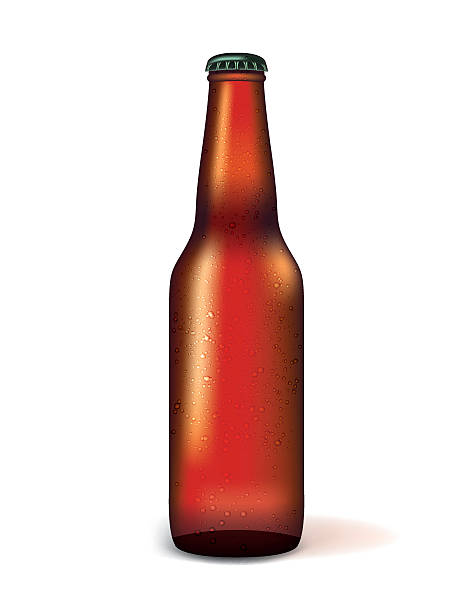 Realistic Bottle of Beer Illustration vector art illustration