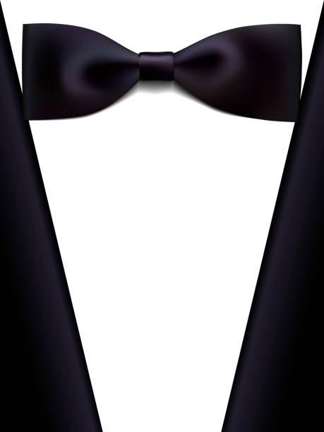 ilustrações de stock, clip art, desenhos animados e ícones de realistic bow tie a tuxedo - smoking