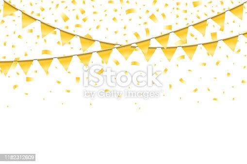 istock Realistic bright festive elegant template 1182312609