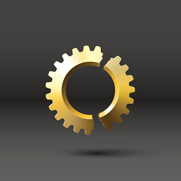 Royalty Free Broken Gears Clip Art, Vector Images ...