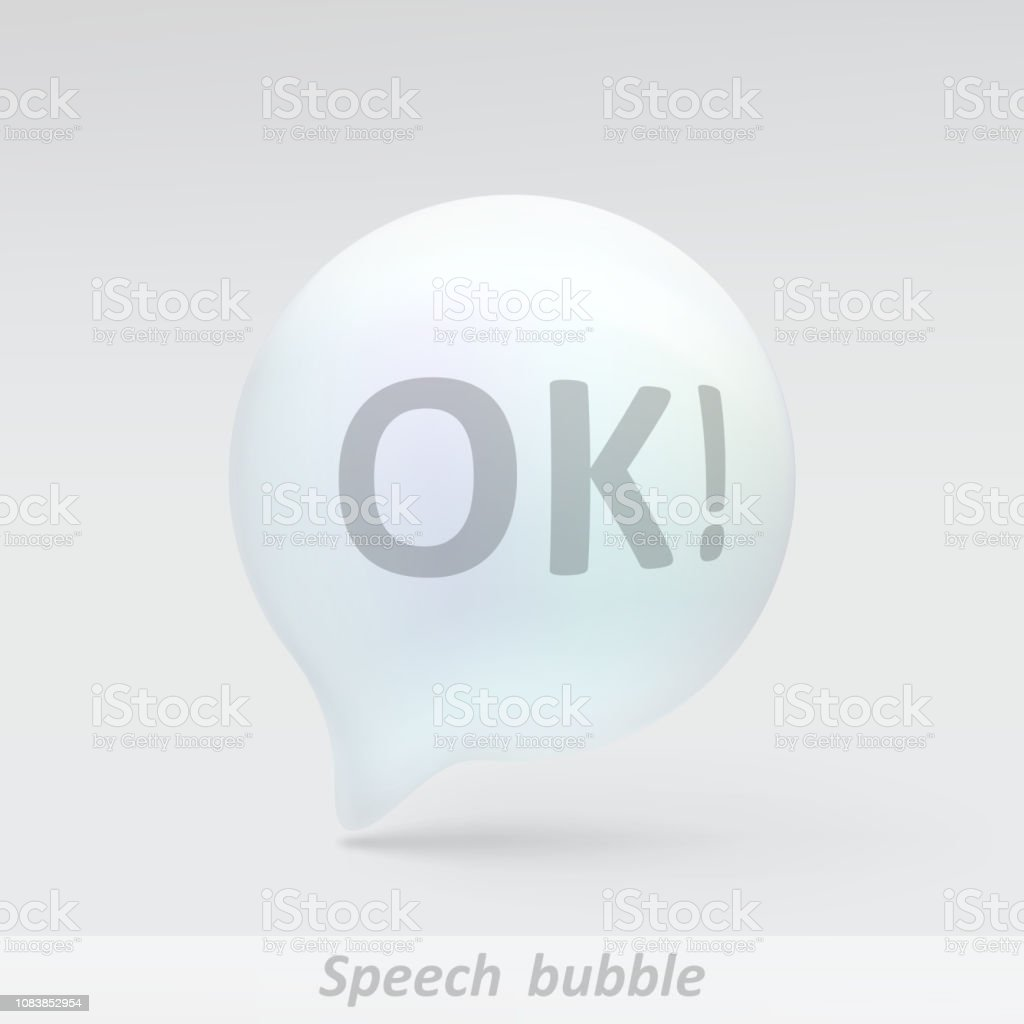 Realistic Bubble Speech Stock Vector Art & More Images of Advice