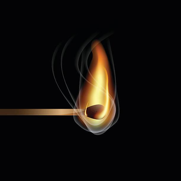 ilustrações de stock, clip art, desenhos animados e ícones de realista queima de fósforo - greve