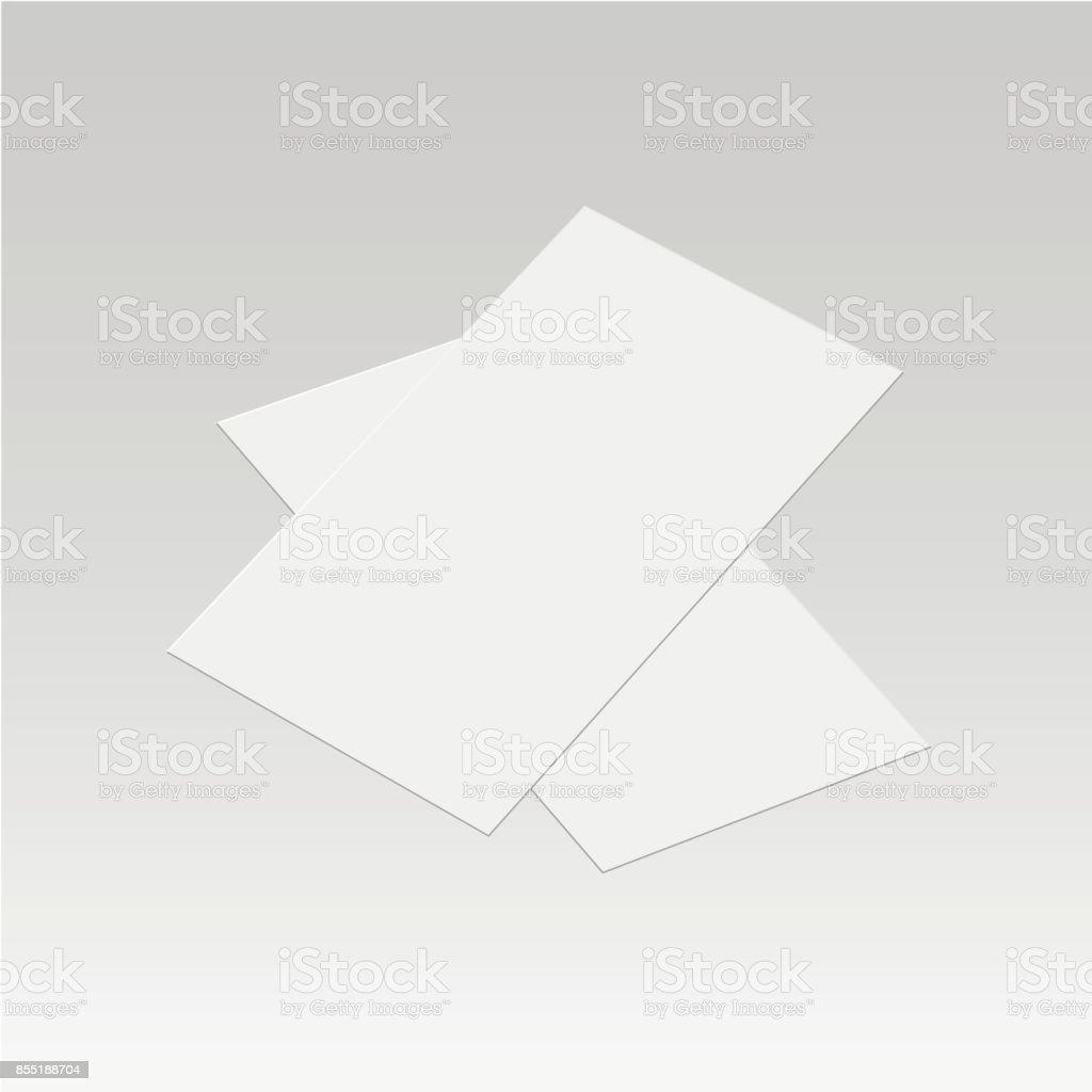 Realistische Visitenkarten Vorlage Vektorillustration Stock