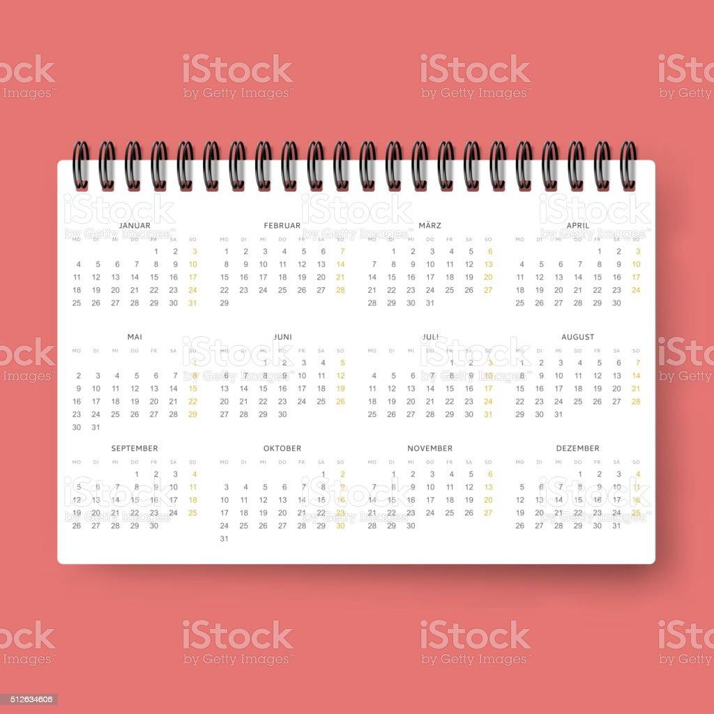 Realistische Kalender Der Kalender Vorlage In Niederländischen ...
