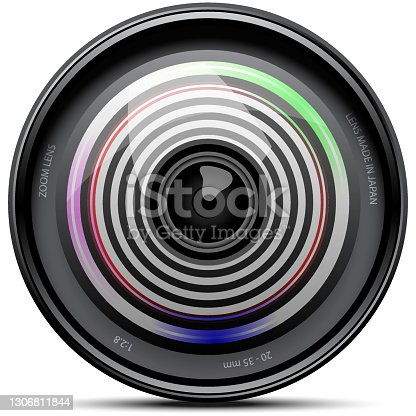 istock Realistic Camera Lenses on white 1306811844