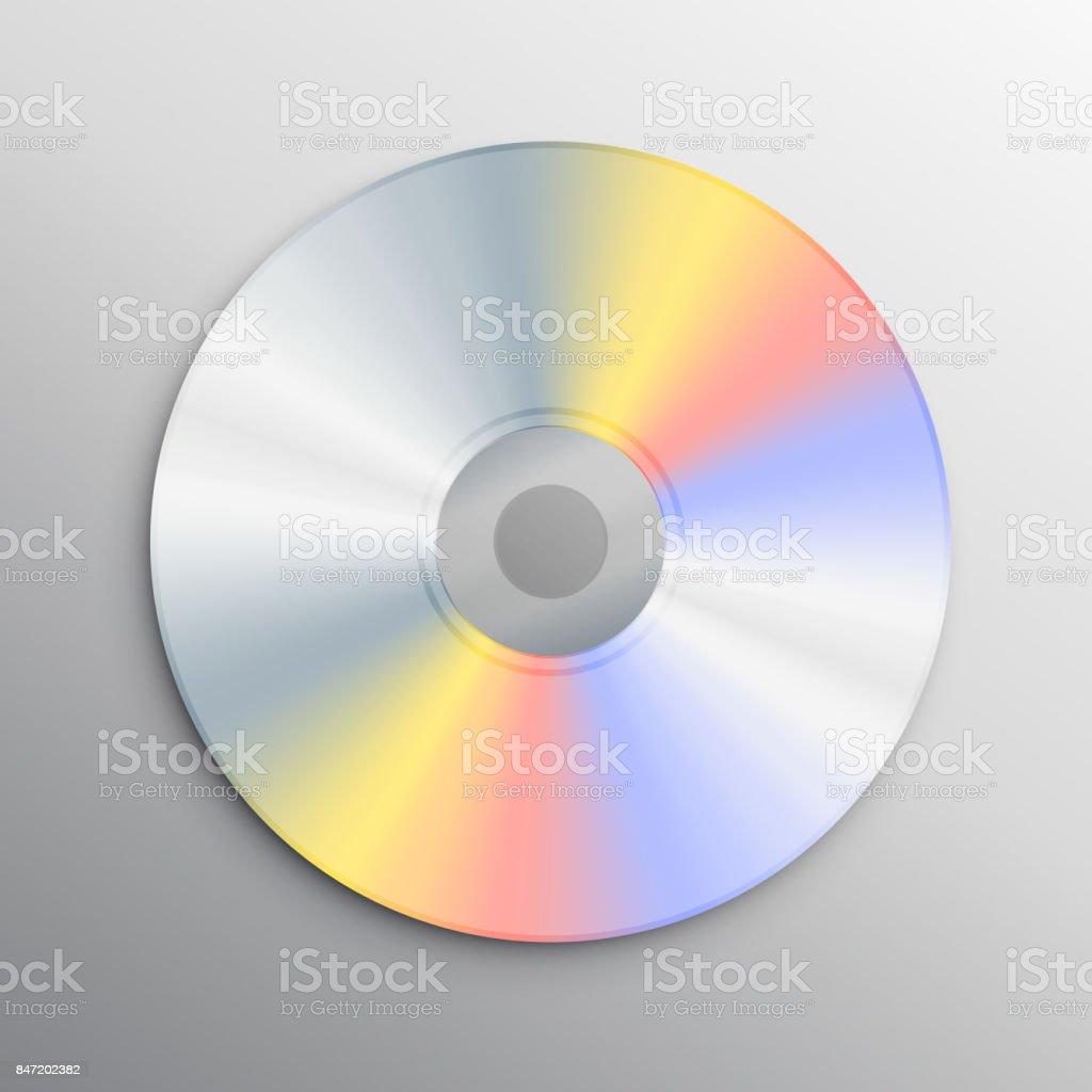 リアルな cd モックアップ デザイン テンプレート dvdのベクターアート