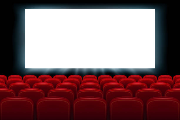 Best Movie Theater Screen Illustrations, Royalty-Free ...