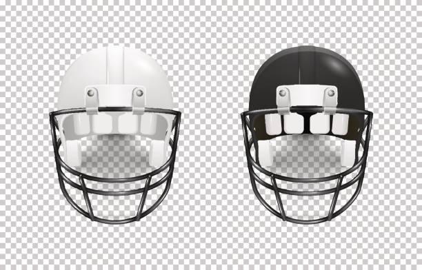 Realistic Classic American Football Helmet Set