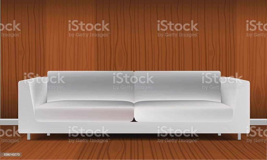 Realistic classic orange sofa isolated on white background vector illustration royalty-free realistic classic orange sofa isolated on white background vector illustration stock vector art & more images of art