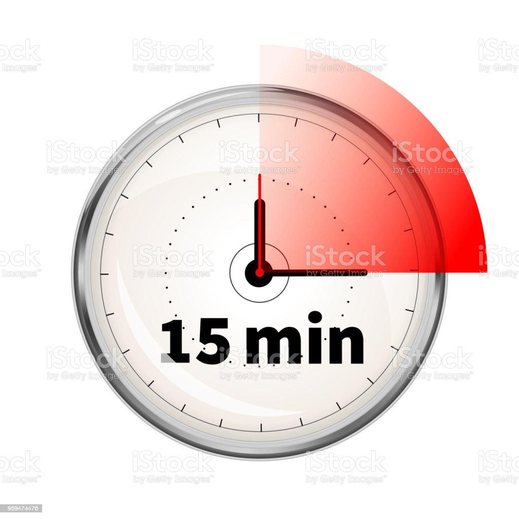 15 Realista Reloj Rostro De Temporizador Con Ilustración Minutos LA35j4Rq