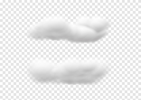 realistic cloud vectors isolated on transparency background ep74