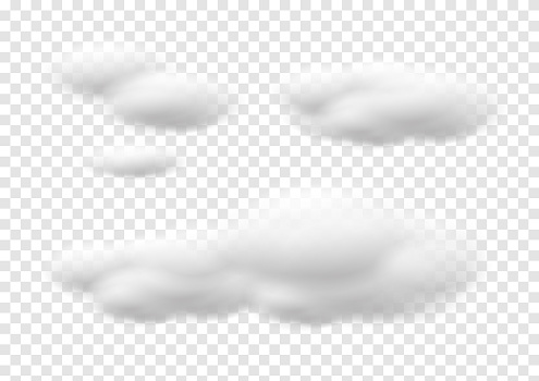 realistic cloud vectors isolated on transparency background ep81