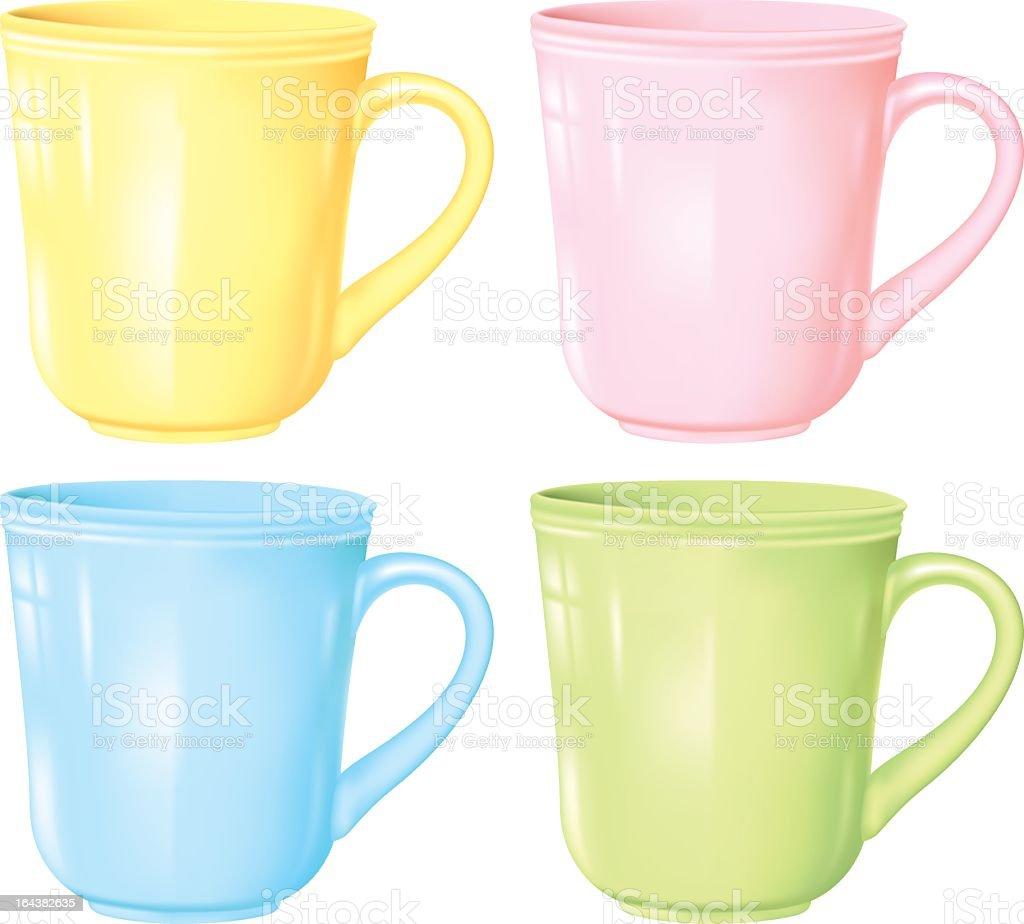 Realistic Coffee Cups vector art illustration