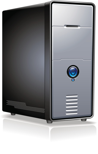 Realistic Computer Server Case vector