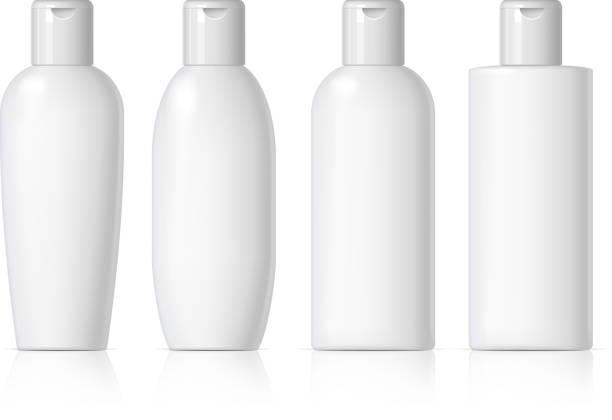 realistische kosmetische flasche kann spritzgerät behälter. - shampoos stock-grafiken, -clipart, -cartoons und -symbole