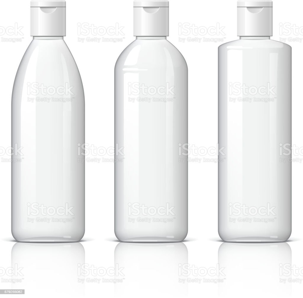Realistic Cosmetic bottle can sprayer container. vector art illustration