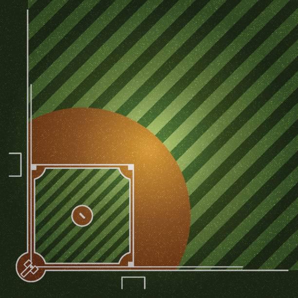 realistic denim texture of baseball field element vector illustration design concept - baseball stadium stock illustrations, clip art, cartoons, & icons