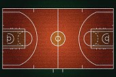 Realistic Denim texture of Baseketball court field element vector illustration design concept