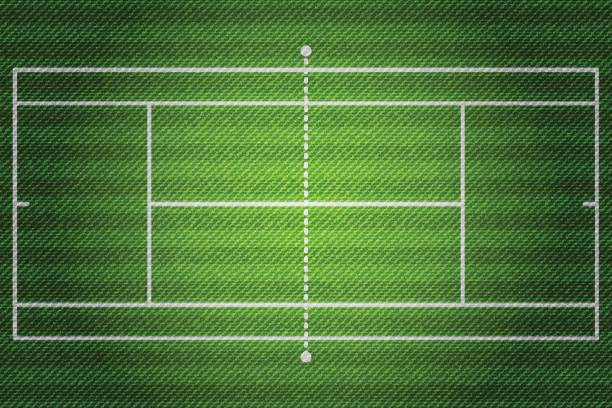 realistische denim textur tennis feld element vektor illustration design-konzept - wimbledon stock-grafiken, -clipart, -cartoons und -symbole